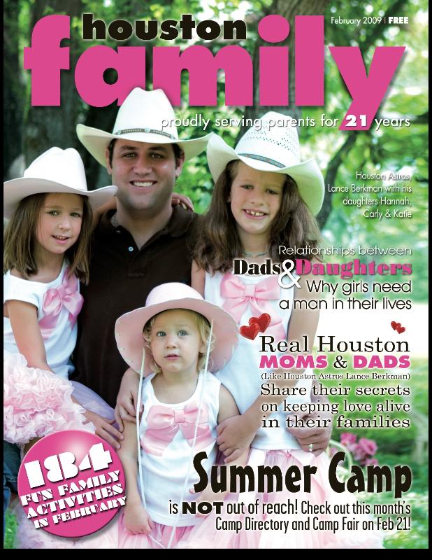Houston Family Cover February 2009 Lance Berkman